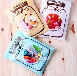 Wholesale 300 Beautiful Jar Clear Window x10 Cello Bag Cookie Bakery Gift Candy Packaging Bags Self Adhesive Seal CH5042101