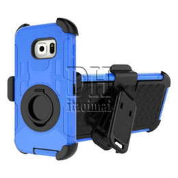 Wholesale Ring Hybrid Robot Case Cover With Stander For iPhone S Plus S Samsung S6 S6 edge Plus S7 edge