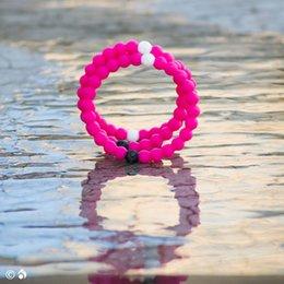 Wholesale Newest Rose red Charm Bracelets colors silicone bracelets S M L XL Lok Charm Bracelet Energy Bracelet DHL