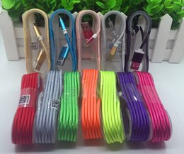 Wholesale High quality Galaxy S6 S7 Edge usb charger cable Aluminium Braid nylon Meter USB Micro charger data cable