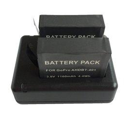 Cargador dual USB Base 800mA Batería adecuada para GoPro HD con pantalla Hero4 / Gopro Hero4 negro desde usb gopro proveedores