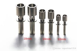 Wholesale Flux Titanium Nail Air Holes mm mm mm Male Joint GR2 Titanium Domeless Nail Hand Tools Dab Rig Ti Nails