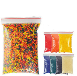 Wholesale 10000pcs Color soft crystal water paintball Bullets gun bullet growing crystal water balls soil water beads air water gun toys for Children