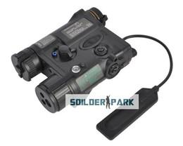 Wholesale Military Tactical Mini Element AN PEQ A Laser Pointer LED Illuminator Aiming Light Black Tan Airsoft Hunting Light Free Ship order lt no