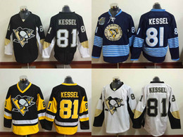 Wholesale Men s Ice Hockey Jerseys Phil Kessel Pittsburgh Black White Blue Winter Classica Stitched Jersey Number Name Sewn On Back