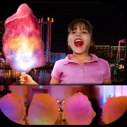 Wholesale 200PCS LED cotton candy cone colorful light up flashing cotton candy sticks for christmas party LED sticks FH46