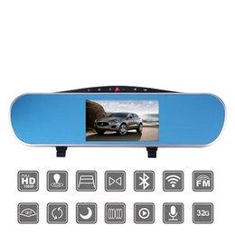 Wholesale car dvd quot Touch Anroid Car DVR GPS Navigation Wifi FM Parking Rearview Mirror Dashcam Dual camera Bluetooth Car GPS dvr navigator