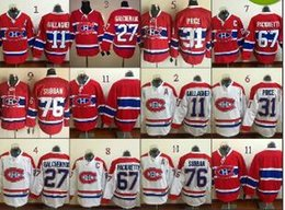 Wholesale Montreal Canadiens Brendan Gallagher Lace Front American Premier Hockey Jerseys Ice Winter Home Away Jersey Stitched Authentic