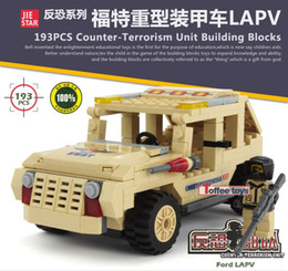 Wholesale Hot selling Big Ford Armored Car Building Blocks Sets DIY Deform Model Toys Bricks birthday present Christmas gift