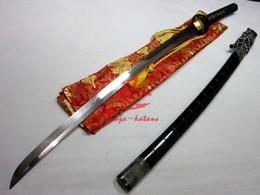 Wholesale Clay Tempered T Blade Katana Iron Cherry Blossom Tsuba Battle Ready Sharpened Sword