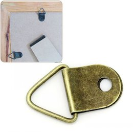 Wholesale Dorabeads Picture Frame Triangle Hangers Antique Bronze x13mm