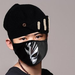 Wholesale New Unisex Adult PM pollen dust Mask Washable Activated carbon Filter Into cotton Masks Cool Picture Cosplay Mask