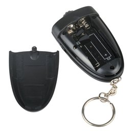 Wholesale 500pcs Keychain Digital Breathalyzer Alcohol Analyzer Breath Tester LED Flashligh Key chain