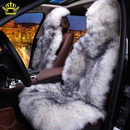 Wholesale 100 Natural fur Australian sheepskin car seat covers universal size for seat cover accessories automobiles