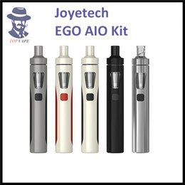 Wholesale 100 Authentic Joyetech eGo AIO Kit With ml Capacity mAh Battery Anti leaking Structure and Childproof Lock All in one style Device