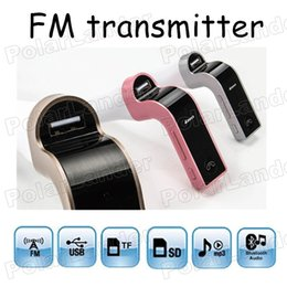 Wholesale G7 Auto Car Bluetooth FM Transmitter With TF USB flash drives MP3 WMA Music Player SD and USB Charger Features High Quality