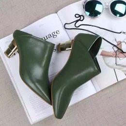 hot! fashion luxury women u615 34 genuine leather u613 34 genuine leather gold heel slide shoes boots ce designer