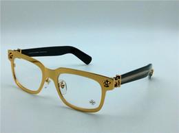 Wholesale new brand eyeglass chrom H metal frame glasses men eye frame brand designer prescription glasses vintage frame steampunk style cross logo