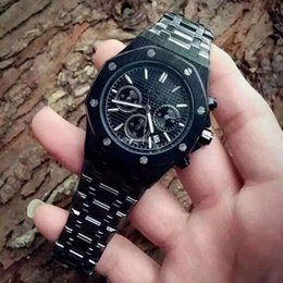 Wholesale brand watch men The Royal Oak manufacturers luxury watches stainless steel wrist table Black quartz watch domineering man