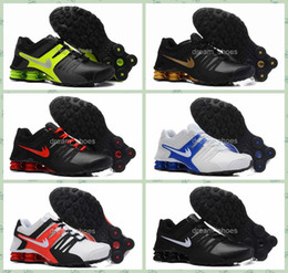 Wholesale 2016 Shox Current Running Shoes Mens Original White Black Shox NZ Lace Sneakers Shoes Sport Shox Shoes Size