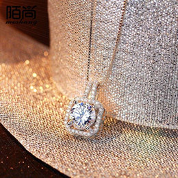 925 Silver Necklace Pendant Chain Korea female sweet fashion jewelry accessories clavicle birthday gift bag mail
