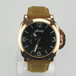 Wholesale 2016 Fashion high quality Brand Pan leather watches with big size for have many colors