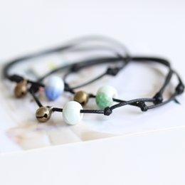 Wholesale Rain creative minimalist folk style hand woven ceramic trinkets DIY Bracelet bracelet