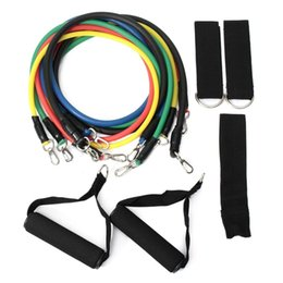 Wholesale Heavy Duty Resistance Bands Tubes Kit with Door Anchor Handles Ankle Straps for Indoor Fitness Training