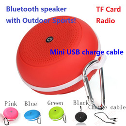 Portable Bluetooth Speakers With FM Radio TF Card Outdoor Sport Music Speaker For Samsung iPhone Smart Phones