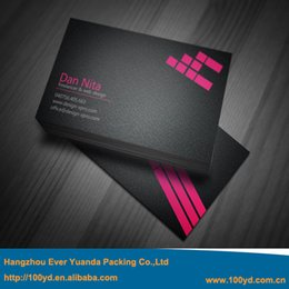 Wholesale Black Custom Business cards gsm Coated Paper mobile visiting cards Printing Double Sides Matt Film Coated New Beauty Design
