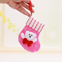 Wholesale Santas Stocking Kids Favourite Styles Christmas Stocking Non Woven fabric Christmas Socks Gift Bags Decorative Socks Candy Bags