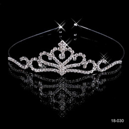 Wholesale Cheap Crowns Popular Beautiful Hair Accessories Comb Crystals Rhinestone Bridal Wedding Party Tiara inch inch
