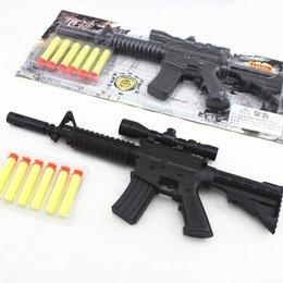 Wholesale Kids Submachine Gun - M4A1 assault rifle plastic nerf guns toy + 6 EVA Foam bullets Imitation for kids Safe sniper rifle toy Submachine gun