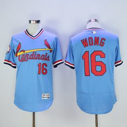 Wholesale St Louis Cardinals Jersey Mens Kolten Wong Blue Pullover Cooperstown Collection Baseball Jersey Stitched Name Number and Logos