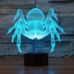 2017 New Design Spider 3D Optical Lamp Night Light 9 LEDs Night Light DC 5V Colorful 3D Lamp