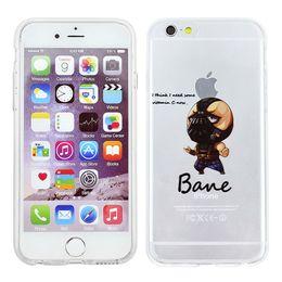 Wholesale Transparent Cartoon Batman For Apple iphone s plus Avengers Back Design Phone Case Back Cover Skin