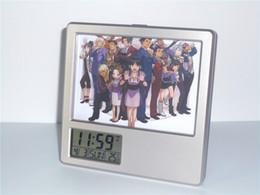 New Ace Attorney Phoenix Wright Creative Horloge numérique Horloge multifonction Horloge Calendrier Porte-stylo Photo Frame Alarm Clock à partir de ace attorney fabricateur