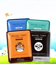 Wholesale New Skin Care Sheep Panda Dog Tiger Packing Facial Mask Moisturizing Oil Control Cute Animal Face Masks Free shopping