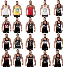 Wholesale 20styles colors Cotton Stringer Bodybuilding Equipment Fitness Gym Tank Top shirt Solid Singlet Y Back Sport clothes Vest