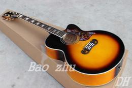 Nuevo llega las guitarras acústicas chinas de encargo chinas de encargo del resplandor solar J200VS de la vendimia de la fábrica de la guitarra de China, envío libre desde guitarra corte envío libre fabricantes