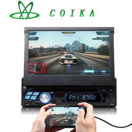 Wholesale 16GB Flash Quad Core Android System Single Din Car Radio Receiver Stereo Car DVD WIFI G OBD DVR RDS Media Play Touch Screen P