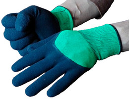 3 4 Coating Industrial Latex Glove Foaming Finish Latex Glove 13 Gauge Nylon Industrial Working Protective Latex Glove