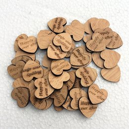 Wholesale 50PCS set Wood Heart Favors Small Table Scatter Decorations Engraved Wood Mr Mrs I DO Plaques Art Craft Embellishment Rustic Wedding Gifts