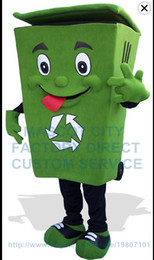 Wholesale Recycle trash can mascot costume adult size waste ash bin garbage can anime costumes advertising mascotte fancy dress kits