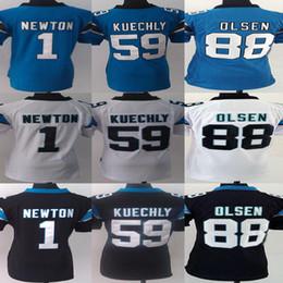 2017 soltar la leva Jersey # 1 de Newton # 59 Luke Kuechly # 88 de los hombres Camisas del balompié de Greg Olsen de la marca de fábrica # soltar la leva promoción