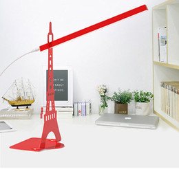 Led table lamp Eiffel Tower modeling reading light stepless dimming creative decorative table lamp with USB cable bed lamp indoor lighting