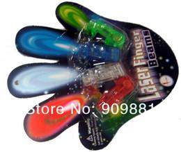 2016 laser conduit doigts 10set 40pcs New 4 LED de couleur vive Rave Troch Party Glow magique LED lumières laser Ring Finger Livraison gratuite laser conduit doigts sortie