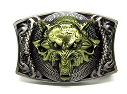 Wholesale Antique Style Wolf with Knife Belt Buckle SW B5010 brand new condition