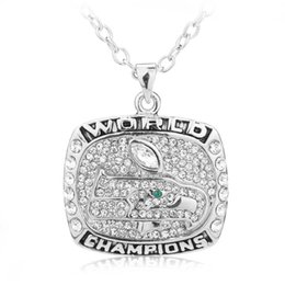 Wholesale 2016 Sales Promotion Super Bowl Football Memorabilia Championship Necklace Replica for sport Fan Apparel Souvenirs Pendant