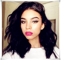 2017 18 black hair 7A Peruvian Body Wave Dentelle Front Perruques Cheveux Humains Courte Bob Perruques Cheveux Plein Perruques Cheveux Humains Pour les femmes noires Bob Perruque abordable 18 black hair